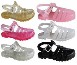 1e870cd2e400 Image is loading Girls-Jelly-Sandals-Jellies-Shoes-Various-Colours-Sizes-