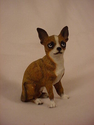 CHIHUAHUA tan brown DOG ANGEL Ornament Resin HAND PAINTED FIGURINE Christmas
