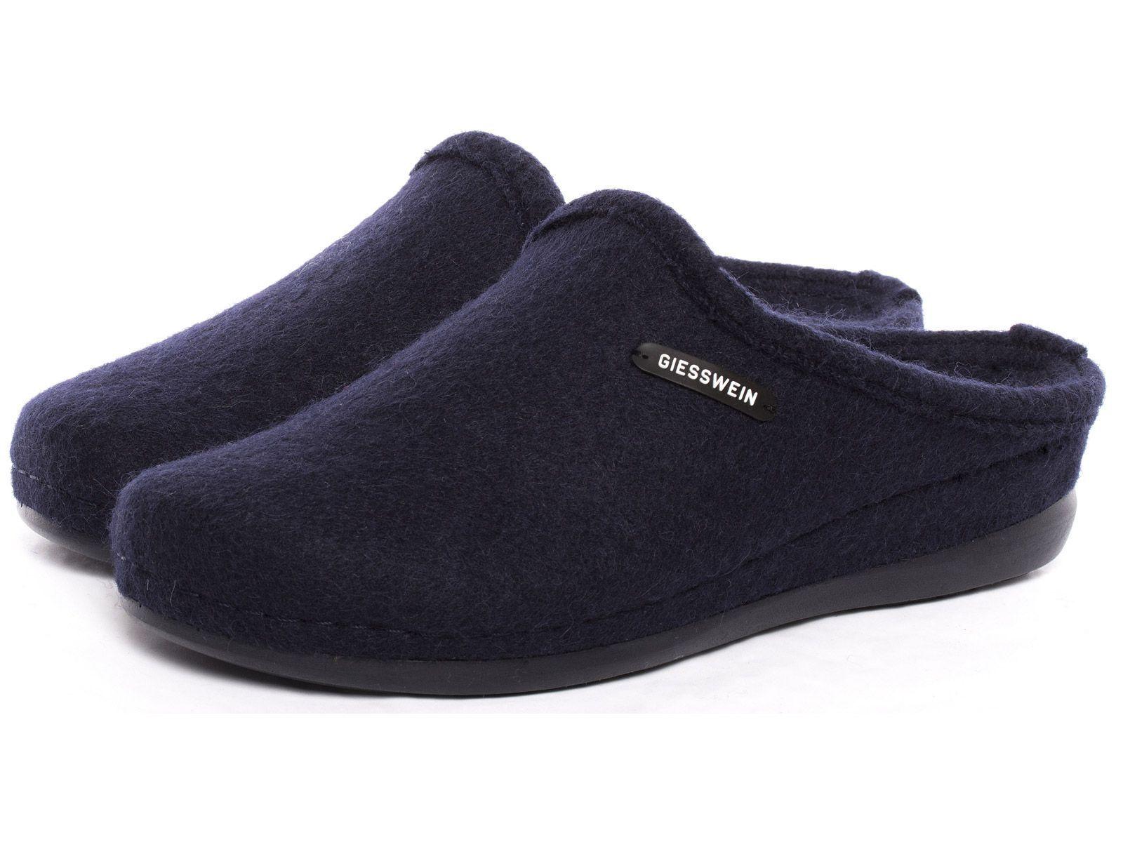 Giesswein Pantofole Jena Ciabatte Blu 38 - 42 feltro suola Comfort Slipper