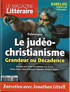 MAGAZINE-LITTERAIRE-N-578-AVRIL-2017-LE-JUDEO-CHRISTIANISME-LITTELL-RABELAIS