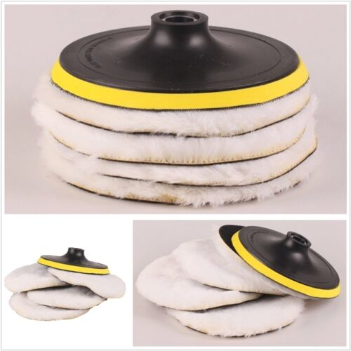 "1Set 7/"" 180mm Soft Wool Clean Polishing Buffing Bonnet Pad for Car Auto Polisher"