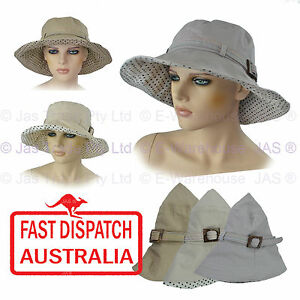 3275276d5a7fb Image is loading 1-Ladies-Cotton-Fashion-Sun-Hat-Portable-Packable-