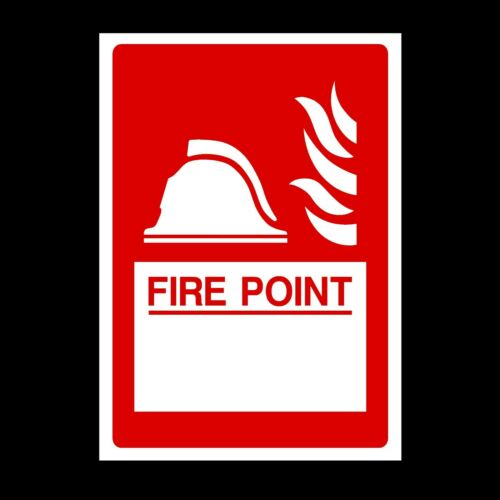 FE14 Fire Point Location Plastic Sign OR Sticker A6 A5 A4