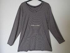 BORIS INDUSTRIES   Long Shirt Tunika Langarm schwarz-silbern Viskose 48 (5)