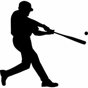 Custom Vinyl Car Decal Baseball Player Sticker EBay - Custom vinyl baseball decals