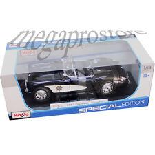 Maisto 1957 Chevy Corvette 1:18 Diecast Model State Highway Patrol Police Car