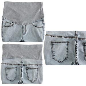 Maternity Jeans Pants Pregnant Trouser Vintage Elastic Leggings Belly Band Pants Ebay