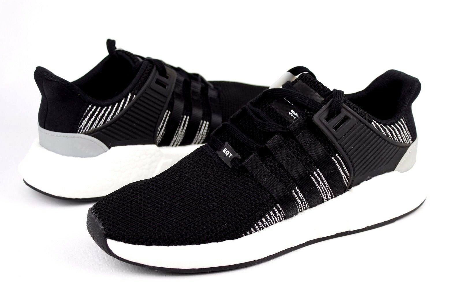 Adidas Size EQT Boost Support 93/17 BY9509 Black Black White Size Adidas 11.5 NIB 5381f2