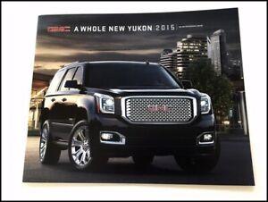 2015 GMC Yukon Preview 10-page Original Car Sales Brochure Catalog