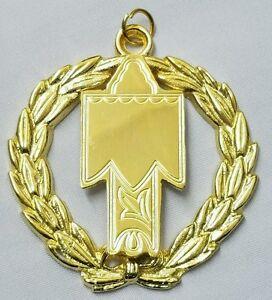 Freemason Grand Tyler Collar Jewel in Gold Tone