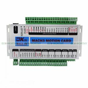 Mach3 usb 4 axis cnc motion control card breakout board 400khz image is loading mach3 usb 4 axis cnc motion control card reheart Gallery