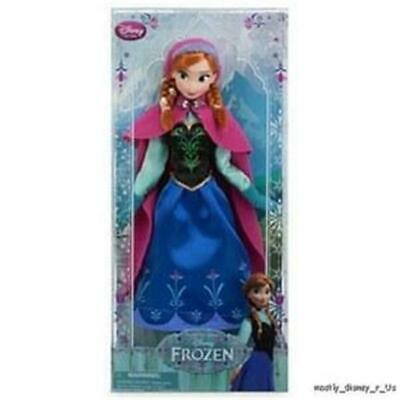 """New Disney Store Frozen Anna Classic Doll Figure Princess Girl Deluxe Toy 12/"""""""
