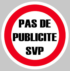 Pas De Pub Publicite Merci Svp Boite A Lettres 75mm Autocollant Sticker Pa077 Let Our Commodities Go To The World Badges, Insignes, Mascottes