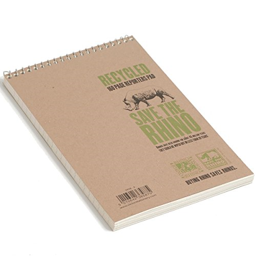 Silvine Spiral Bound Shorthand Notebook Recycled 127x203mm 80 Leaf Ruled Pack o