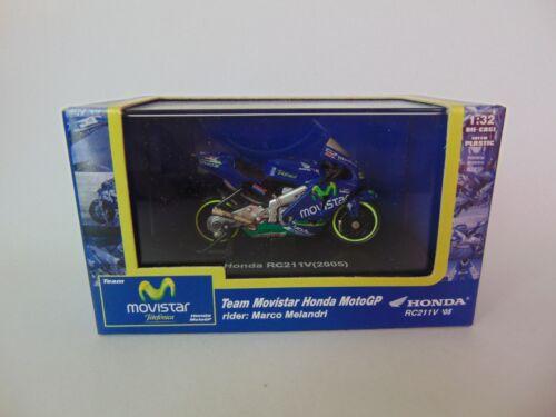 MOVISTAR Honda RC211V Marco Melandri New Ray 1:32 2005 ca. 6 cm