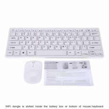Black Wireless Mini Ultra Slim Keyboard and Mouse for Toshiba Smart TV 48L5441DG