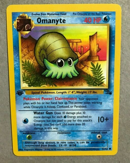Complete 1st Edition Common Mint Fossil Set Pokemon Card