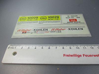 Kibri: Adesivo/decals-curva 10029 H. Huber Carboni, Ecc. (gk79)-mostra Il Titolo Originale Durevole In Uso
