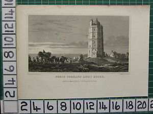 1832-DATED-ANTIQUE-PRINT-NORTH-FORELAND-LIGHT-HOUSE