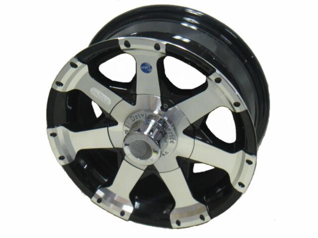 "14"" 5 Lug Series 06 Black Hispec Aluminum Trailer Wheel boat camper rv utility"