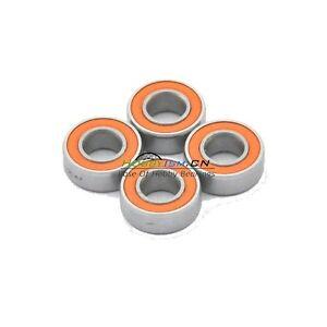 5x11-x4-Orange-Rubber-Hybrid-Ceramic-Bearing-ABEC-7-SMR115C-2OS-4PCS-Lube-Dry