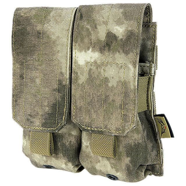 FLYYE TACTICAL DOUBLE MAG AMMO ARMY POUCH MOLLE SYSTEM A-TACS AU CAMO