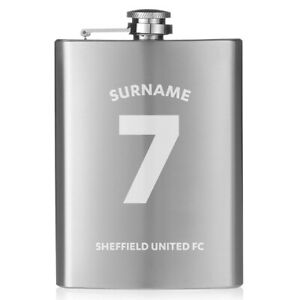 Sheffield United F.c - Personalised Hip Flask (shirt) Des Biens De Chaque Description Sont Disponibles