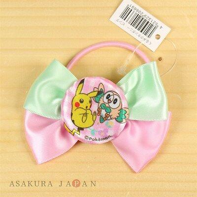 Pokemon Center Original Pink Ribbon Hair Band Rowlet Pikachu