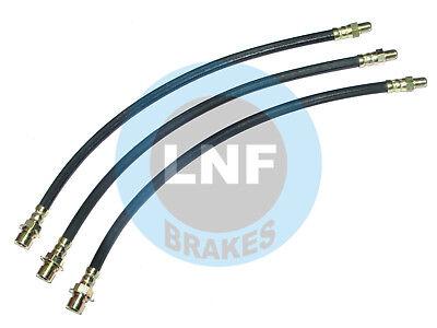 37-38 Oldsmobile Front Rear Drum Brake Rubber Flex Hose Line Set Kit 3 pc