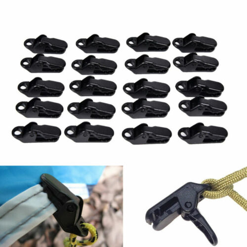 20x Plastic Tent Clips Camping hiking tent Tarp Clip outdoor Campe Clamp ZTWI