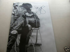 """*SIGNED* A2 poster print - John McGuinness """"head in hands"""" - isle of man TT"""