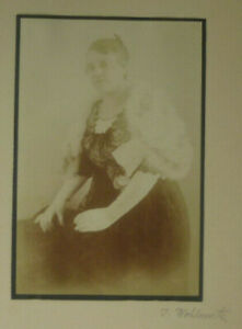 Kabinettfoto Dame Betty Foto Wohlmuth München signiert vor 1930 ca. 9,5 x 14 cm