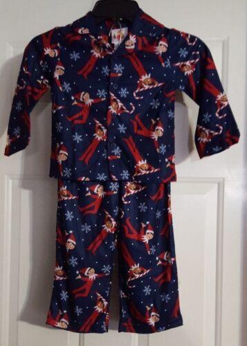 New Boy/'s Sleepwear Elf On The Shelf 2pc Long Sleeve Shirt /& Pants Set Size 4