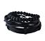 Men Ladies Beach Beaded Rope Leather Bracelets Multi Stacker Wristbands for Guys