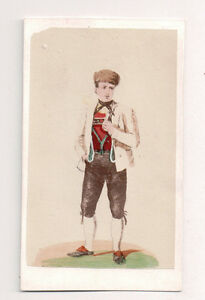 Vintage-CDV-Handpainted-Duchy-of-Baden-Germany-Traditional-National-Costume