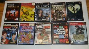 Lot-Of-10-Playstation-2-Video-Games-Nice-Selection-of-Games