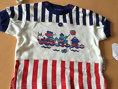 1 Baby Sea T-shirt Blau/rot Weiss M.bärchen Als Seeleute Gr.68 Oho-aha Neu M.e Eine VollstäNdige Palette Von Spezifikationen