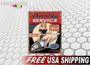 Pin-up-Girl-SPARK-PLUGS-Vinyl-Graphics-Decal-Vintage-Pin-up-Retro-Sign-Sticker