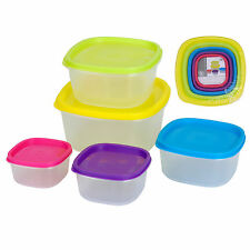 Food Storage Containers Excellent Housewares Clear Plastic Sealed Tubs Set of 5