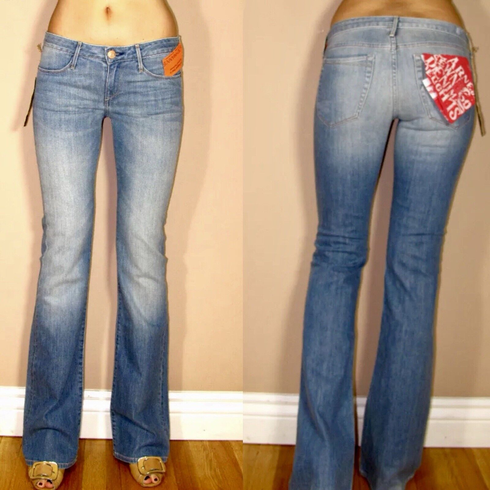 Earnest Sewn Ali Dudley Light Low Rise Bootcut X-Soft Jeans 24-28 USA Made