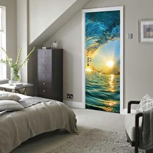 Beach door mural 88cmx200cm