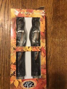 Grim-Reaper-Set-of-2-Vintage-Robert-Alan-HALLOWEEN-10-034-Taper-Candles