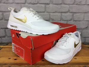 Details about NIKE LADIES UK 5 EU 38.5 THEA ESSENTIAL WHITE METALLIC GOLD TRAINERS RRP £95