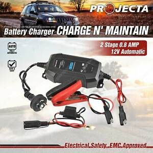 Projecta 12 Volt Automatic 800MA 2 Stage Battery Charger Caravan Car
