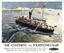 Vintage LMS Liverpool Llandudno Ferry Railway Poster A4//A3//A2//A1 Print