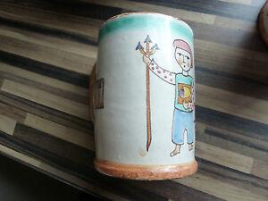 Genuine vintage vietri pottery large mug c.a.s ceramiche artistiche