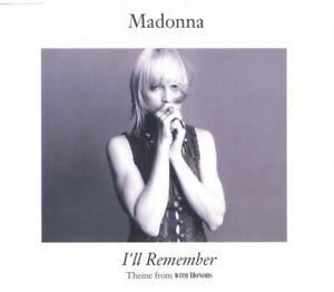 Madonna-Maxi-CD-I-039-ll-Remember-Theme-from-With-Honors-Europe-EX-EX