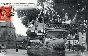 """CPA 37 TOURS GRANDES FETES D'ETE 1908 CHAR DU COMITE """"LA LOIRE"""" (cpa animée)"""