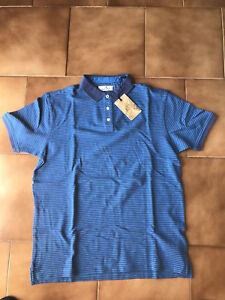 Polo-uomo-CTF-manica-corta-blu-azzurra-taglia-L-in-cotone-OCCASIONE-ESTATE-NUOVA