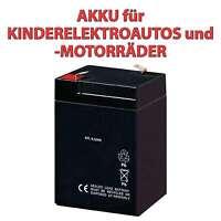 Akku Für Kindermotorrad, Kinder Elektroroller, Motorrad, Ersatzteil, 6v, 4500mah